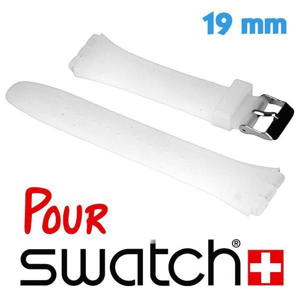 Bracelet Montre Swatch Transparent Silicone Lisse 1 9 Cm My Montre