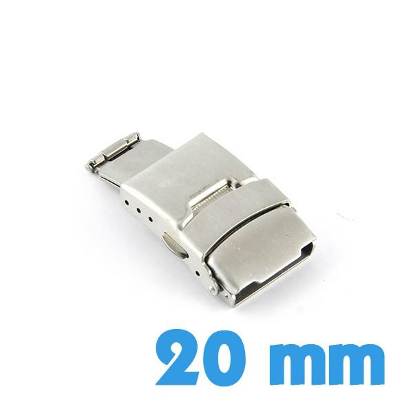 Boucle bracelet montre métal déployante argentée 20 mm fc4adb18b3d