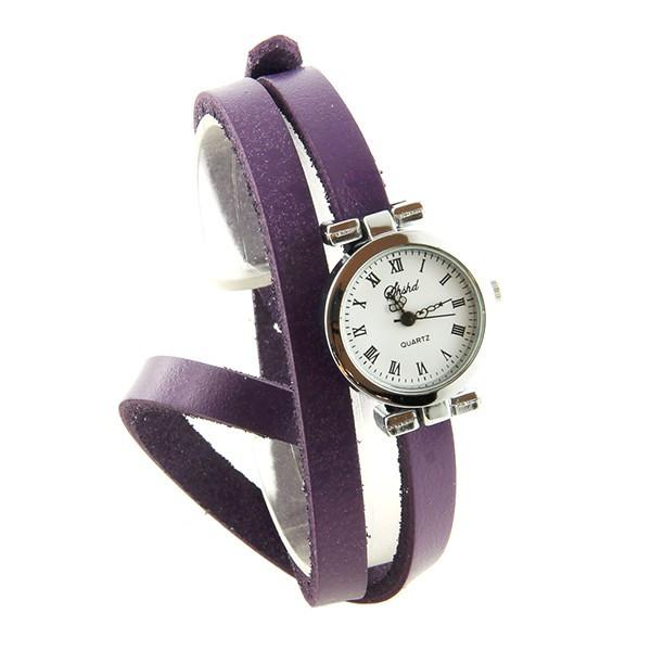 78a50db3d0b Super Double tour violet montre femme pas chère bracelet  QI 32