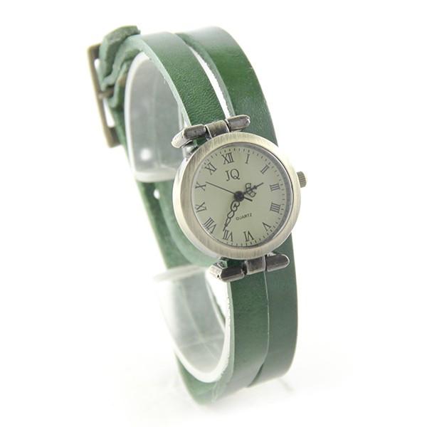 8d8e3a6fe83 Double tour vert montre pas chère femme bracelet cuir