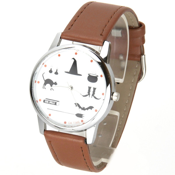 Time Pu Bracelet Halloween Ok Cuir Cappuccino Montre bf7vY6mIgy