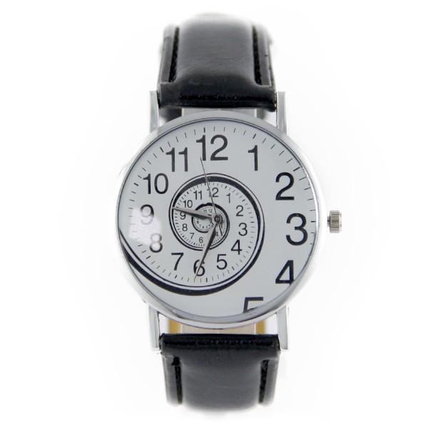 2dc6fd1bd5a7c Montre femme pas cher tourbillon originale bracelet cuir synthétique noir